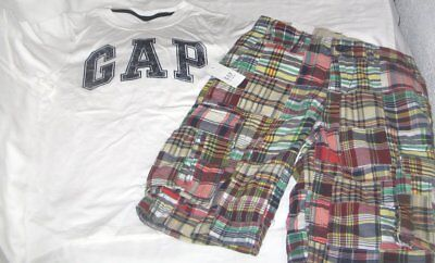 NWT Boys 8 GAP 2 Pc Outfit Shorts and Short Sleeve Logo Top NEW