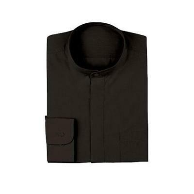 Chef Works - B100-BLK-S - Black Banded-Collar Shirt (S)