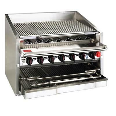 """MagiKitch'n - CM-RMB-636CR - 36"""" Countertop Gas Charboiler w/ Cast Iron Radiants"""