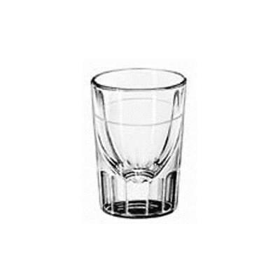 Libbey Glassware - 5135/S0617 - 1 1/4 Fluted Whiskey Glass w/1/2 oz  Cap Line
