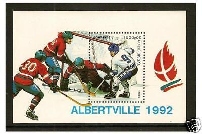Guinea-Bissau - 1989 Winter Olympic Games (Ice Hockey) sheet - MNH - SG MS1173