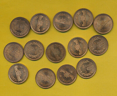 Japan - Coppers - Bu Lot Of 14 Coins