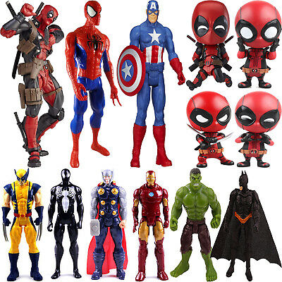 Marvel Superhelden Figur Deadpool Spiderman Actionfigur Figuren Kinder Spielzeug