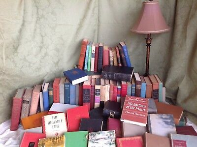 LOT Of 12 VINTAGE OLD BOOKS mix unsorted Pre 1960's books Great Colors For Home
