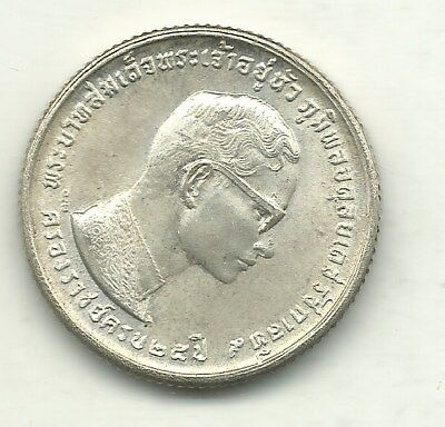 High Grade Au/unc 1971 Thailand Silver Ten Baht Coin-May107