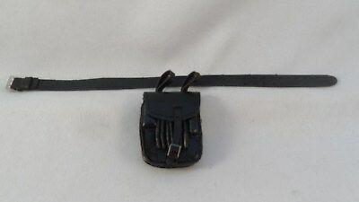1/6 Scale DID,Dragon,or 3R Lot of WW2 German Officer's Black Belt & Map Case