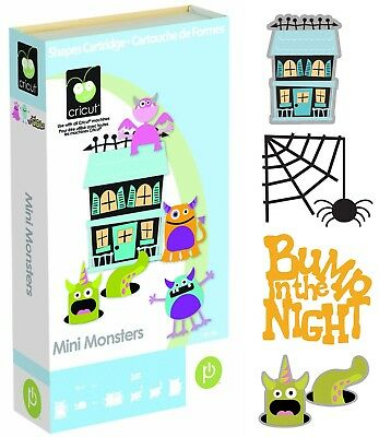 Cricut Cartridge - Mini Monsters - Halloween, Ghost, Spider, Witch Cauldron, Bat