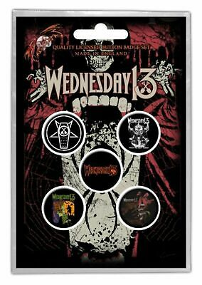 Wednesday 13 - 5 x 2.5cm Button Set - Condolences