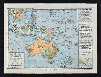 1885 drioux map oceania physical australia new zealand east indies new guinea