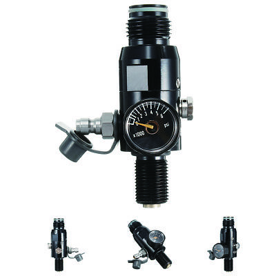 "Paintball Valve Regulator 4500psi HPA Air Tank Output 2200psi 5/8""-18UNF Thread"