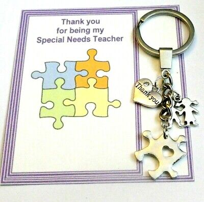 Thank you Gift Special Needs Assistant SEN or Teacher Key ring  Gift card +Bag