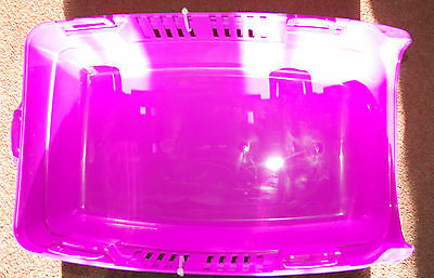 NEW! Bright Pink upto 3kg Pet Carrier Create By Advantage Big Handle Vents