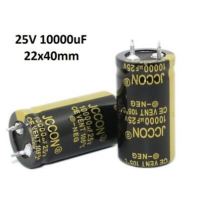 1x 25V 10000uF Amplifier Audio Power Filter Electrolytic Capacitor 105°C 22x40mm