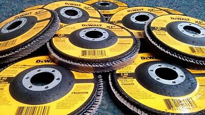 "DeWalt DW8252 4-1/2"" x 7/8"" Flap Wheel Disc Z80 Grit Type T27 Zirconia 10 Pack"