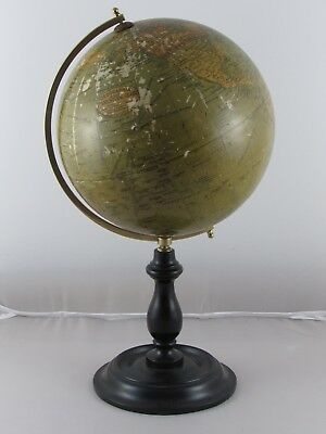 Vintage Antique Geographia 8 Inch Terrestrial Globe 1923 Desk Library Display