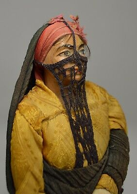 Antique Dolls from Egypt collected during WWII, Terracotta dolls in full regalia
