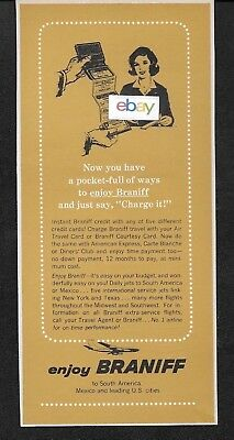 Braniff International 1964 Now A Pocket Full Of Ways To Fly Braniff Credit Ad