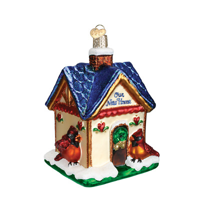 """""""Our New Home"""" (20052)X Old World Christmas Glass Ornament w/ OWC Box"""