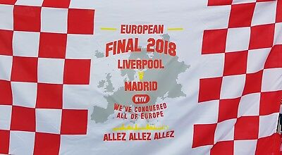 Liverpool Final Flag 5x3 26th May 18 - Allez Allez Allez - Red and White