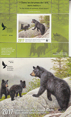 Canada MNH Quebec Conservation 2017 WWF   Overprinted   DQ86