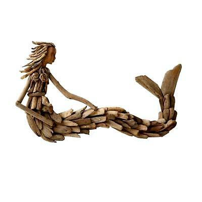 Driftwood Wall Mount Mermaid Hand Crafted Nautical Art
