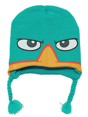 PHINEAS /& FERB PERRY Knit LAPLANDER Beanie Hat KIDS Sz 8-20 REVERSIBLE ~ NWT
