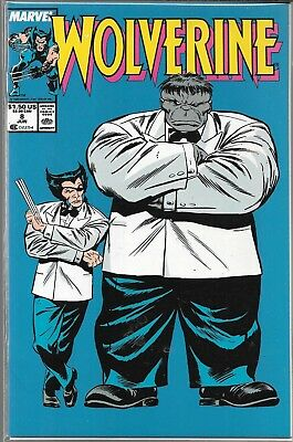 Wolverine #8 (Vf) Copper Age Series, X-Men, Gray Hulk