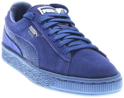 Puma Suede Classic Mono Reptile Running Shoes- Blue- Mens