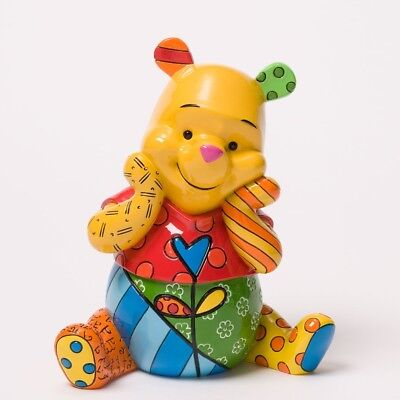 Romero Britto Disney Smiling Winnie the Pooh Pop Art Figurine 4033896 New