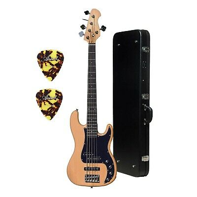 Artist VHYB5 Vintage Hybrid V 5 String Bass Guitar + Black Hard Case - New