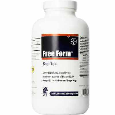 Free Form Snip Tips Omega3 for Medium/Large Dogs 250 capsules