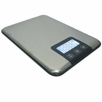 Stainless Steel 33LB 15KG/1G LCD Digital Kitchen Scale Diet Food Weight Device
