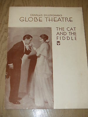 RARE 1931 Cat and the Fiddle Playbill Globe Theater NY OWNED BY EDDIE FOY JR III
