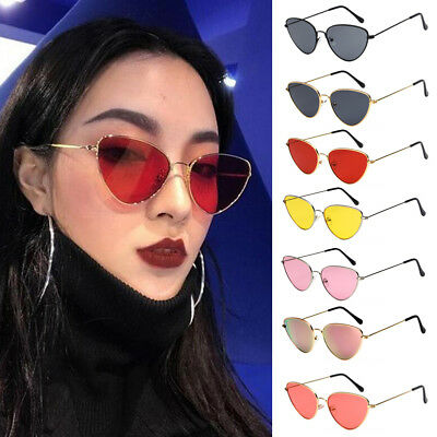 Women Ladies Cat Eye Sunglasses Retro Vintage Style Rockabilly Eyewear Glasses