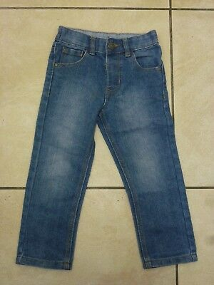 George Asda Boys Kids 5 Pocket Denim Jeans Age 3-4 Years NEW Blue Uk Freepost