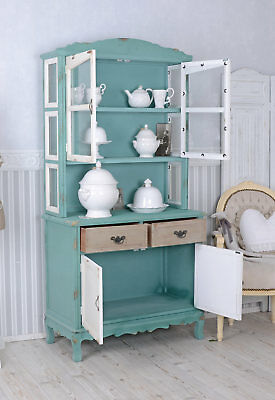 Cupboard country style showcase sideboard kitchen cabinet with doors & drawers