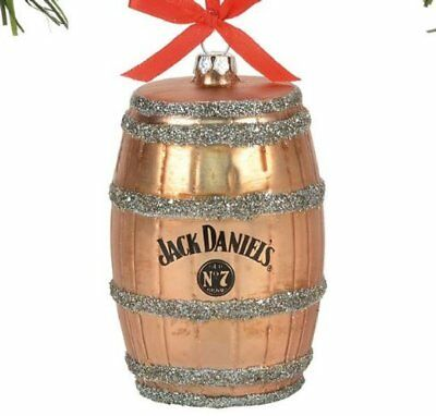 Department 56 Jack Daniels Barrel Glass Christmas Ornament 4057388 Whiskey New