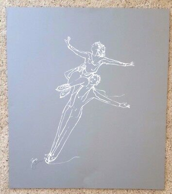 Individually hand done PSGA Gerrit Greve Ice Skater Serigraphs....Autographed