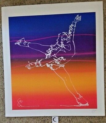 Individually hand done Gerrit Greve Ice Skater Serigraphs....Autographed