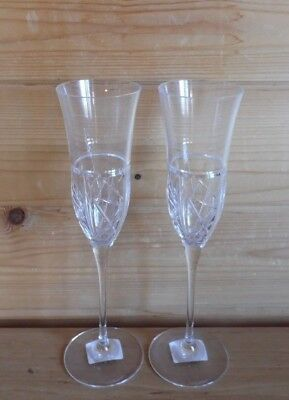 2 x Champagne Flutes/Prosecco Glasses Waterford Crystal London Commemorative
