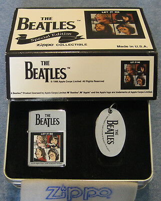 ZIPPO  THE BEATLES Lighter & Key Ring LET IT BE Collectible SPECIAL EDITION 1997