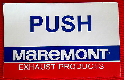 Maremont Exhaust Products Shop Door PUSH Decal msc