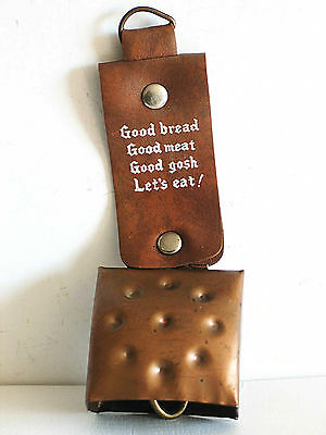 "Metal Dinner Bell on Strap GOOD GOSH LET'S EAT 6"" tall FREE SH"