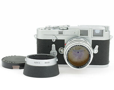 Leica M3 #957725 SS Chrome Rengefinder 35 mm Camera with Summilux 1.4/50 mm