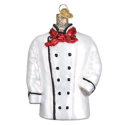 Chef's Coat Old World Christmas Glass Gourmet Cooking Kitchen Ornament Nwt 32311