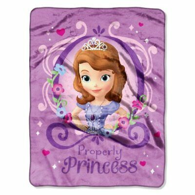 "Disney ""Sofia The First Princess Perfection"" Silk Touch Throw, 46 by 60-Inch"