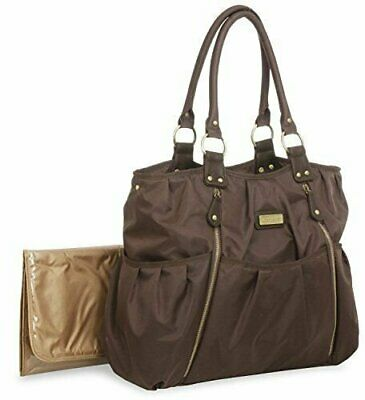Carter's Zip Front Fashion Tote Diaper Bag (Brown)