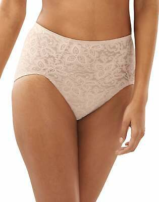 Bali Lace N Smooth Brief Panties Firm Control Full Back Coverage Shapewear HiCut