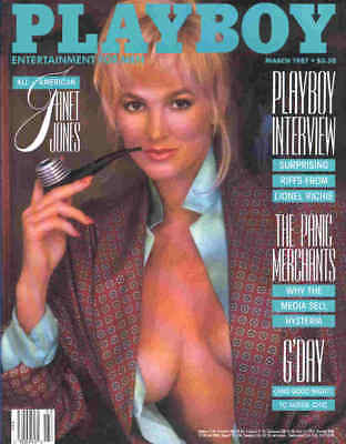 US-Playboy 3/1987 - Marina Baker - Janet Jones - Lionel Richie