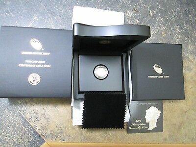 2016 W Mercury Dime Centennial Gold Coin In Box And Coa Perfect From The Us Mint